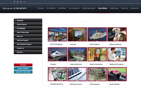 Screenshot of Case Studies Page flatvision.co.uk - Case Studies - flatvision.co.uk - captured Nov. 3, 2014