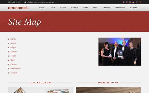 Screenshot of Site Map Page arronbrookcaravans.co.uk - About Arronbrook - Static Caravan Manufacturers - captured July 30, 2018