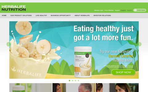Screenshot of Home Page herbalife.com - Herbalife - United States - Official Site - captured July 21, 2015