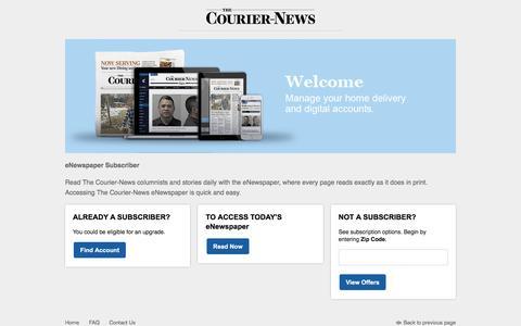 Screenshot of Landing Page chicagotribune.com - Access to Subscriber Services - captured Sept. 24, 2016