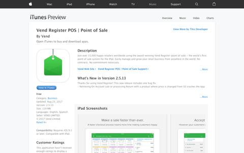 Vend Register POS | Point of Sale on the App Store