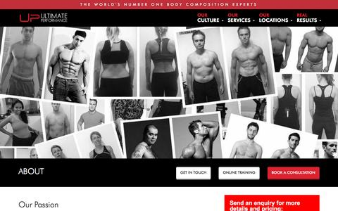 Screenshot of About Page upfitness.co.uk - Ultimate Performance - About Us - captured Nov. 28, 2016