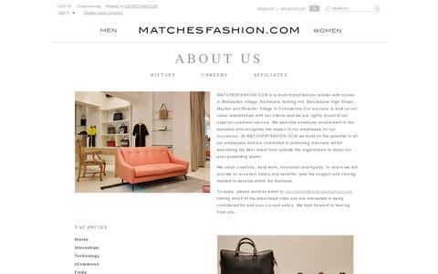 Screenshot of Jobs Page matchesfashion.com - Careers in Luxury Fashion | MATCHESFASHION.COM - captured July 20, 2014