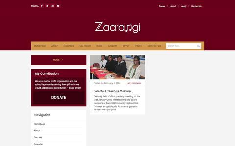 Screenshot of Team Page zaarangi.org - Zaarangi  Management Archives » Zaarangi - captured Oct. 9, 2014