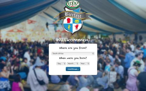 Screenshot of Terms Page bierfest.co.za - Bierfest | Terms & Conditions - captured Oct. 3, 2014