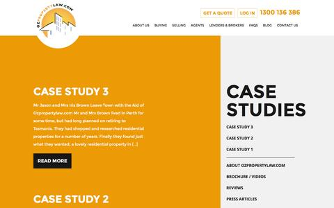 Screenshot of Case Studies Page ozpropertylaw.com - Case Studies »  Oz Property Law - captured Feb. 16, 2016