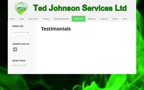 Screenshot of Testimonials Page tjsl.co.uk - Testimonials - captured Oct. 7, 2014