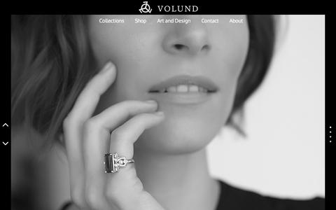 Screenshot of Home Page volund.ca - Volund Jewelry | Makers of treasure - captured Aug. 16, 2015