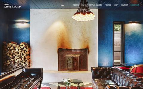 Screenshot of Home Page hotelsaintcecilia.com - Home   Hotel Saint Cecilia - A Luxury Hotel in Austin - captured July 23, 2018