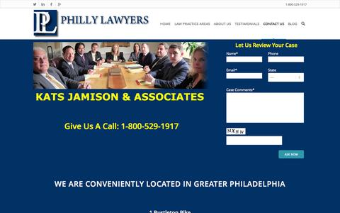 Screenshot of Contact Page phillylawyers.com - CONTACT US - Philly Lawyers - captured Oct. 6, 2014