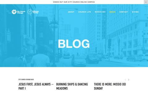 Screenshot of Blog citychurchchicago.com - BLOG — City Church Chicago - captured July 18, 2018