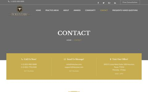 Screenshot of Contact Page thefoleylawfirm.com - Contact – The Foley Law Firm - captured Oct. 18, 2018