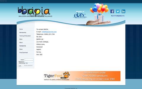 Screenshot of Contact Page bapiaonline.com - BAPIA Ltd - Contact Us - captured Sept. 19, 2017