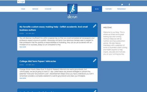 Screenshot of Blog dcrun.com.au - DC Run Blog - Expert Running Technique Advice, Running Coach Articles - captured July 31, 2016