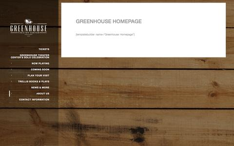 Screenshot of About Page greenhousetheater.org - Greenhouse Homepage - Greenhouse Theater Center - captured Feb. 2, 2016