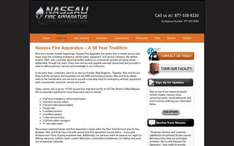 Screenshot of About Page nassaufire.com - About Us – Nassau Fire - captured Nov. 28, 2016