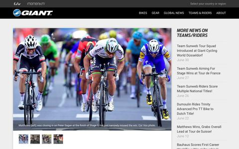 Screenshot of Press Page giant-bicycles.com - Strong Start for Matthews, Team Sunweb at Tour! - Giant Bicycles | Official site - captured July 4, 2017