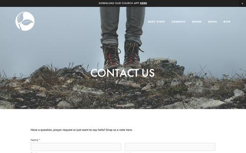 Screenshot of Contact Page thesanctuarychurch.com - Contact Us — THE SANCTUARY - captured Oct. 18, 2018