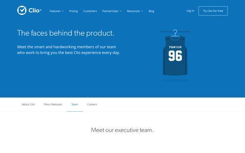 Screenshot of Team Page goclio.com - Clio | Meet the Clio team - captured April 14, 2016