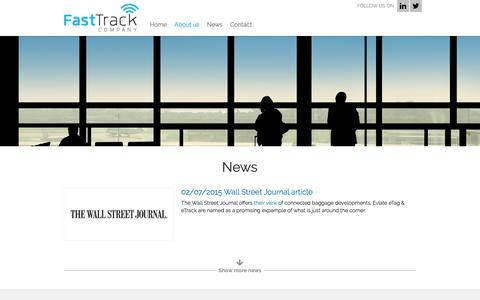 Screenshot of About Page fasttrackcompany.com - About the company - FastTrack Company - captured Jan. 26, 2018