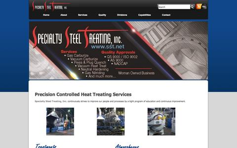 Screenshot of Services Page sst.net - Precision Controlled Steel Heat Treating Services Company | Specialty Steel Treating, Inc. - captured Oct. 7, 2014