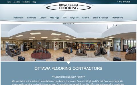 Screenshot of Home Page ottawadiamondflooring.com - Ottawa Flooring Company - Flooring Store in Ottawa - Ottawa Diamond Flooring - captured Nov. 11, 2017