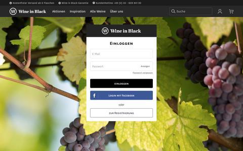Screenshot of Login Page wine-in-black.de - Wine in Black - captured June 25, 2017