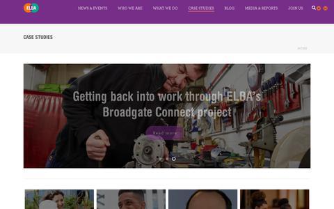 Screenshot of Case Studies Page elba-1.org.uk - Case studies | ELBA - captured July 13, 2017