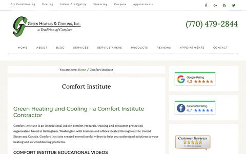 Comfort Institute Education by Green Heating and Cooling - Canton, GA