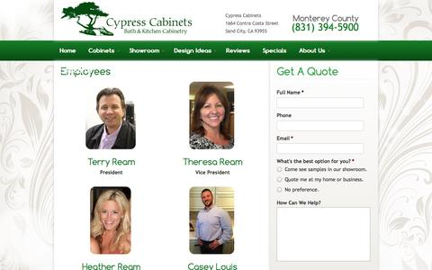 Screenshot of Team Page cypresscab.com - Employees «  Cypress Cabinets - captured Oct. 3, 2014