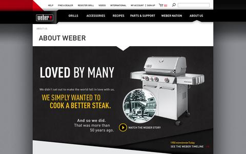 Screenshot of About Page weber.com - About Weber Grill - Chicago Based Grill Company | Weber.com - captured Oct. 26, 2014