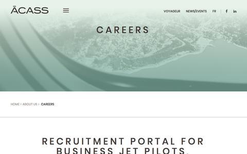 Screenshot of Jobs Page acass.com - Careers - ACASS - captured July 28, 2018