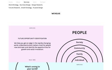 Screenshot of Services Page wevolve.us - Services : Wevolve - captured Feb. 14, 2016