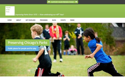 Screenshot of Home Page fotp.org - Home | Friends of the Parks - captured Jan. 24, 2015