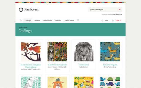 Screenshot of Products Page editorialflamboyant.com - Editorial Flamboyant - Catálogo - Libros infantiles y juveniles - captured Oct. 26, 2016