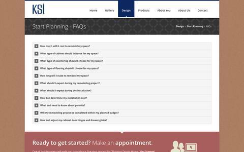 Screenshot of FAQ Page ksikitchens.com - Kitchen Remodeling FAQ | KSI Kitchen + Bath - captured Oct. 6, 2014