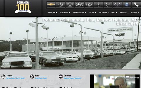 Screenshot of Home Page pohanka.com - New Used Cars | Maryland Virginia Washington DC | Pohanka Auto Group - captured Nov. 6, 2019
