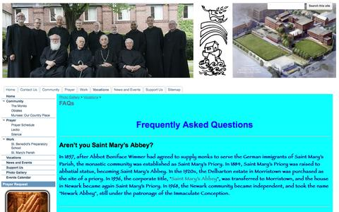 Screenshot of FAQ Page google.com - FAQs - Newark Abbey - captured April 8, 2017