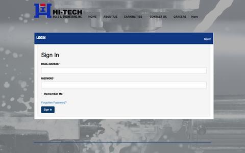 Screenshot of Login Page hitechmold.com - Hi-Tech Mold & Engineering, Inc | Plastic Injection Molding Michigan | LOGIN - captured Nov. 7, 2016