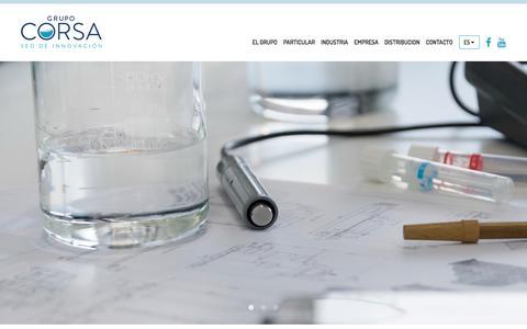 Screenshot of Home Page corsa.es - Grupo Corsa- Líderes en tratamientos de agua desde 1974. - captured Sept. 26, 2018