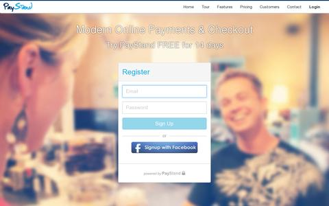 Screenshot of Signup Page paystand.com - Start using Paystand - captured July 18, 2014