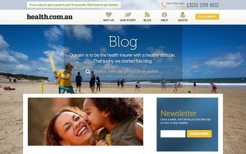 Screenshot of Blog health.com.au - Health Insurance Opinions, Insights and More | health.com.au Blog - captured Sept. 23, 2014