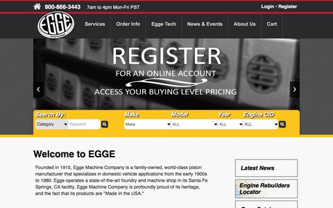Screenshot of Home Page egge.com - Welcome to Egge - captured Jan. 26, 2016