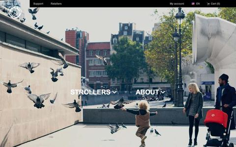 Screenshot of Home Page bugaboo.com - bugaboo – mobility concept creators | strollers (United states) English - captured Dec. 18, 2014