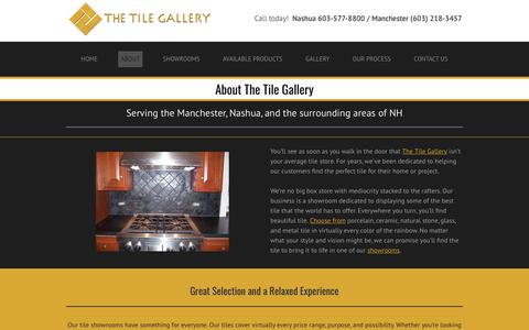 Screenshot of About Page tilegalleryusa.com - About |  The Tile Gallery | Manchester, Nashua, Bedford, Amherst, & Windham, NH - captured Dec. 13, 2018