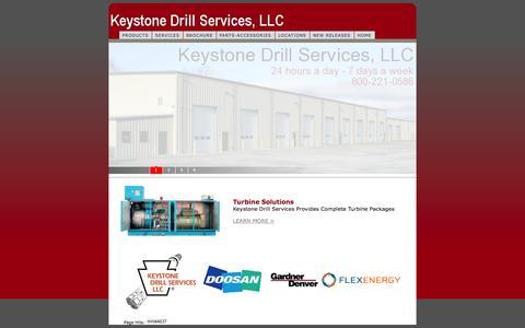 Screenshot of Home Page keystonedrill.com - KeystoneDrill.com - captured Oct. 6, 2014