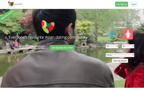 Screenshot of Home Page asiand8.com - Asian Dating – It's FREE to Register. Join Today! - captured April 23, 2016