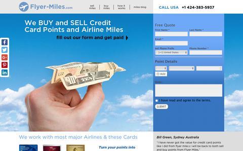 Screenshot of Home Page flyer-miles.com - Home - flyer-miles.com - captured Aug. 16, 2018