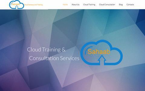 Screenshot of Home Page sahaab.co - Sahaab - captured Oct. 4, 2014