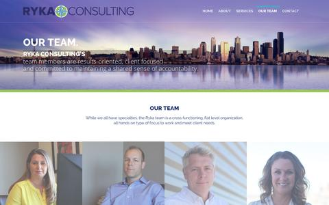 Screenshot of Team Page rykaconsulting.com - Our Team - Ryka Consulting - captured Oct. 29, 2014
